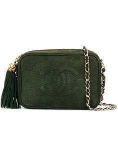 сумка со простроченным логотипом Chanel Vintage
