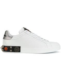 кроссовки с вышитой короной Portofino Dolce & Gabbana