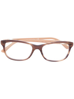 wood effect squared glasses Bulgari