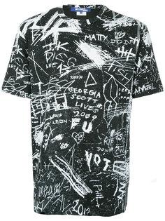 футболка с принтом-граффити Junya Watanabe Comme Des Garçons Man