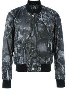 куртка-бомбер с пальмовым принтом Versus