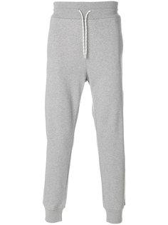 спортивные брюки с контрастными полосками Moncler Gamme Bleu