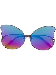 солнцезащитные очки с дизайном крыльев бабочек Matthew Williamson