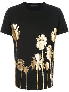 футболка с эффектом фольги Christian Pellizzari