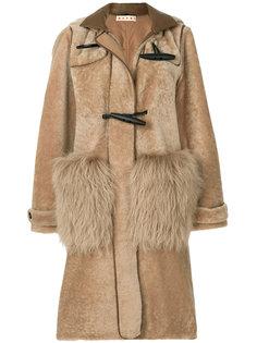shearling duffle coat Marni