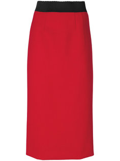 юбка миди с эластичным поясом  Alberta Ferretti