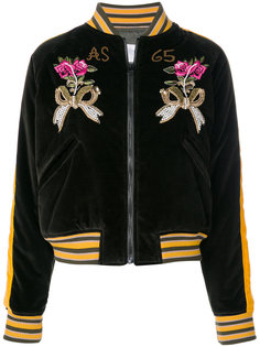 бархатная куртка с вышивкой As65