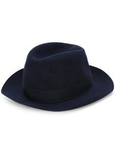 шляпа-федора с бантом Borsalino
