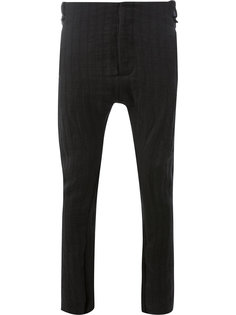 брюки скинни с заниженной проймой Masnada
