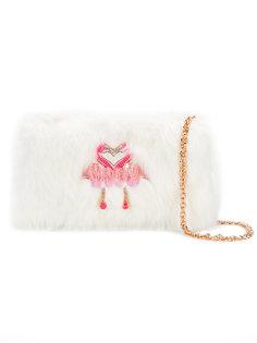 сумка на плечо с аппликацией фламинго Sophia Webster