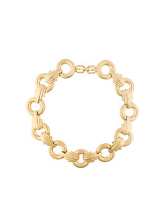 art-deco style cable chain necklace Givenchy Vintage