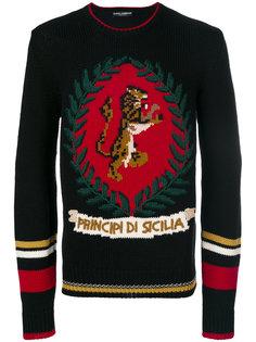 свитер с изображением тигра Dolce & Gabbana