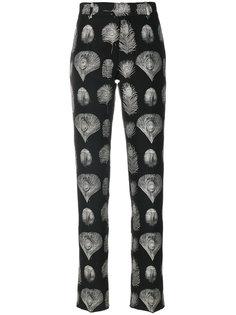 брюки с принтом Alexander McQueen