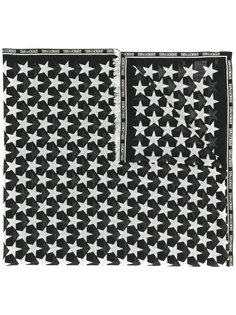 шарф с логотипом и принтом со звездами Givenchy