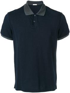 футболка-поло с контрастным воротником Moncler