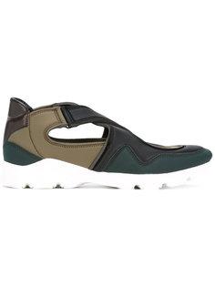 кроссовки с ремешками крест-накрест Mm6 Maison Margiela