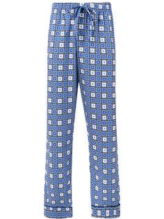 пижамные брюки с узором из квадратов Otis Batterbee