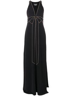 платье с бантом из заклепок  Moschino