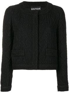 укороченный фактурный пиджак  Moschino