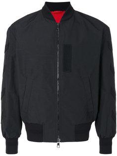 куртка-бомбер с нашивками на рукаве Neil Barrett