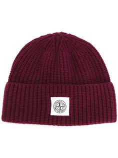 шапка с логотипом Stone Island