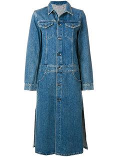 длинная джинсовая куртка  Calvin Klein