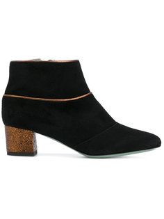 gold trim ankle boots Paola Darcano
