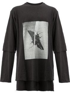 многослойная футболка с принтом насекомого Song For The Mute