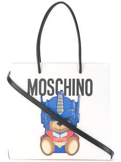 сумка-тоут с принтом плюшевого медведя Moschino