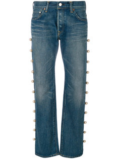 jeans with side trim pearl embellishment Tu Es Mon Tresor