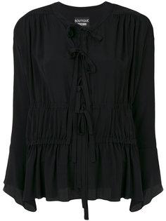 блузка с завязками на вырезе Moschino