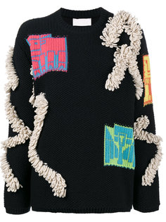 свитер с деталями букле Peter Pilotto