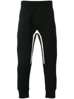 спортивные брюки с белой отделкой  Neil Barrett