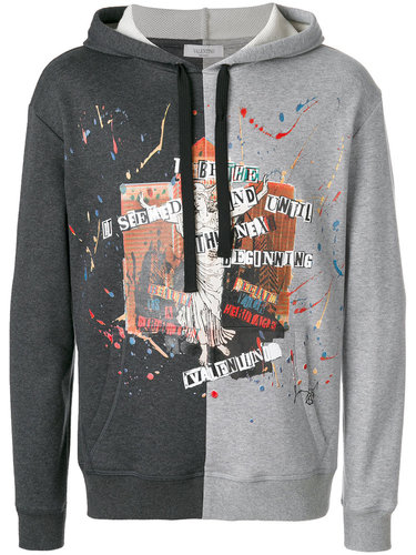 contrast panel hoodie Valentino