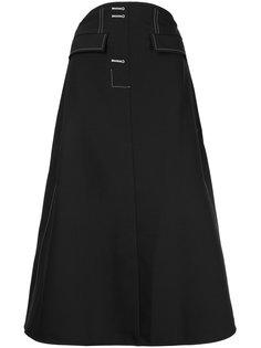 А-образная юбка с контрастной строчкой  Ellery
