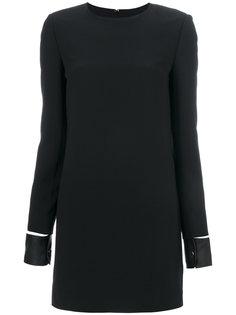 платье-мини с кожаными манжетами Helmut Lang