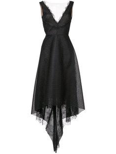 вечернее платье с асимметричным подолом Marchesa Notte