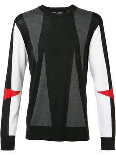свитер с с геометрическим принтом-интарсией Neil Barrett