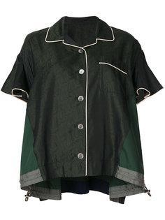 рубашка в пижамном стиле  Sacai