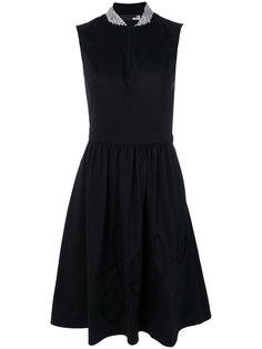 расклешенное платье миди  Love Moschino