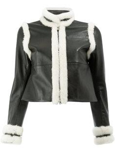 куртка с отделкой из меха норки Wales Bonner