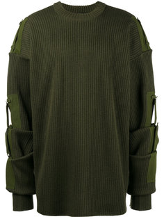 Detachable sleeve military jumper Y / Project