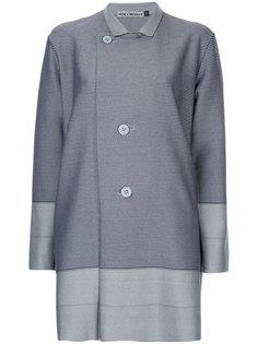двубортный пиджак свободного кроя Issey Miyake