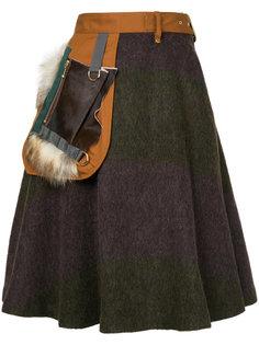 А-образная юбка с поясом и карманом  Kolor