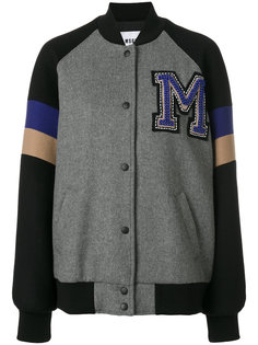 университетская куртка-бомбер MSGM
