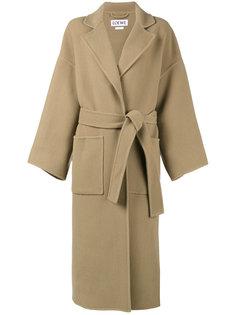 пальто свободного кроя с длинными рукавами Loewe