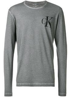 футболка с длинными рукавами с логотипом Calvin Klein
