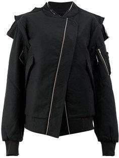 асимметричная куртка на смещенной застежке Moohong