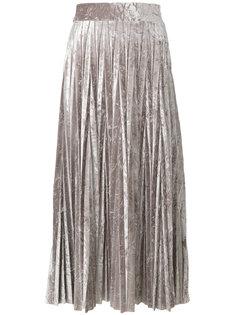 плиссированная юбка металлик  Aviù