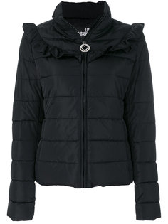 дутая куртка с оборками на плечах  Love Moschino